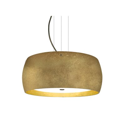 Speidel 3-Light LED Drum Pendant Base Finish: Bronze, Shade Color: Gold
