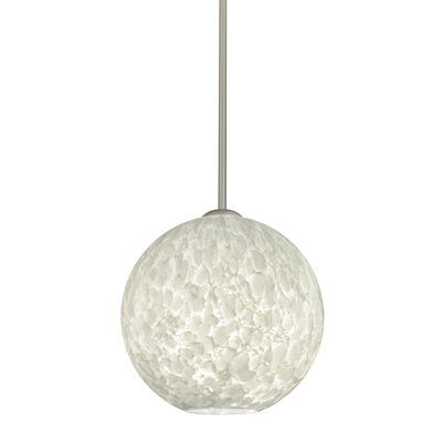 Speth 1-Light Globe Pendant Base Finish: Satin Nickel, Size: 9.5