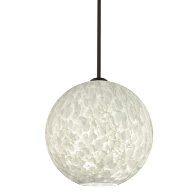 Speth 1-Light Globe Pendant Base Finish: Bronze, Size: 13.25 H x 13.75 W x 13.75 D
