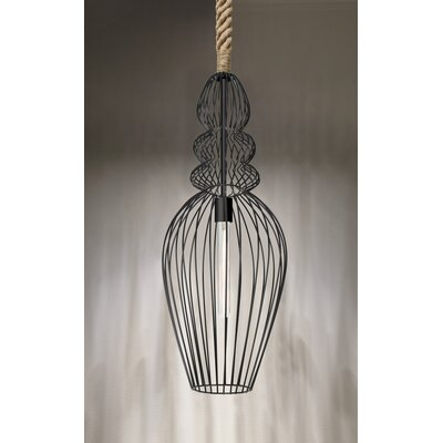 Spence Rope 1-Light Foyer Pendant