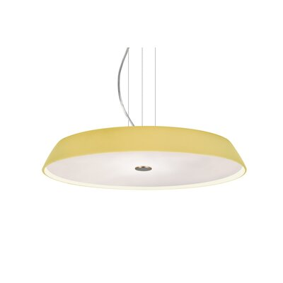 Speier Round Suspension 1-Light LED Inverted Pendant Finish: Satin Nickel, Shade Color: Vanilla