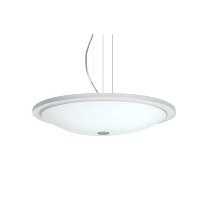 Cavandale Round Suspension 1-Light Bowl Pendant Finish: Satin Nickel, Size: 3 H x 17.75 W x 17.75 D