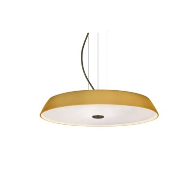 Speier Contemporary Round Suspension 1-Light LED Inverted Pendant Finish: Bronze, Shade Color: Amber