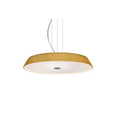 Speier Contemporary Round Suspension 1-Light LED Inverted Pendant Finish: Satin Nickel, Shade Color: Amber