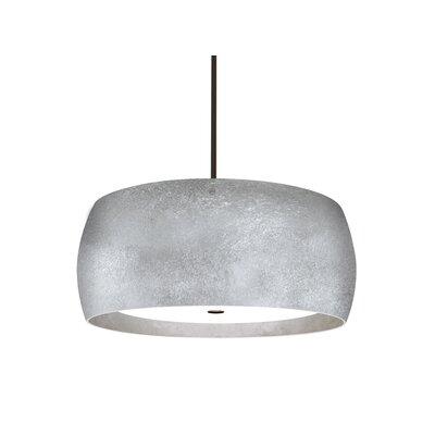 Speidel 3-Light Drum Pendant Base Finish: Bronze, Shade Color: Silver