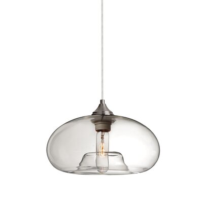 Bana 1-Light Geometric Pendant Finish: Satin Nickel, Shade Color: Clear