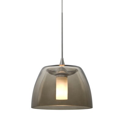 Spur 1-Light Cord Mini Pendant Finish: Satin Nickel, Shade Color: Smoke