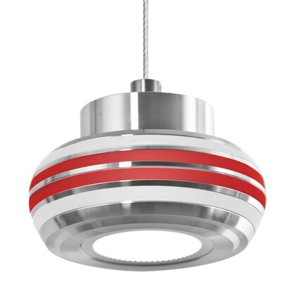 Canela 1-Light Mini Pendant Shade Color: Red/Frost
