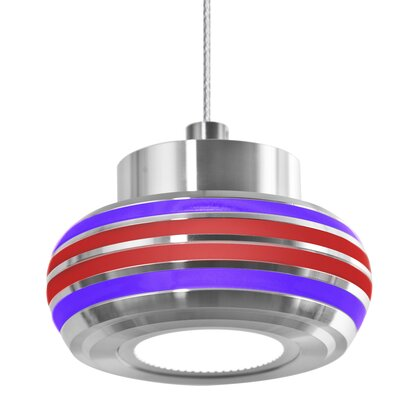Canela 1-Light Mini Pendant Shade Color: Purple/Red