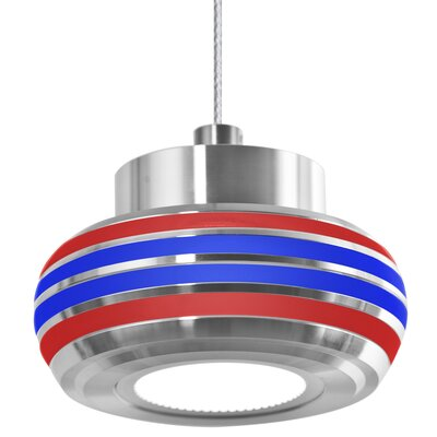 Canela 1-Light Mini Pendant Shade Color: Red/Blue