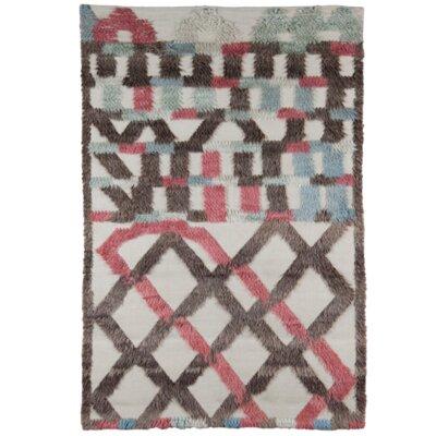 Hand-Woven Brown/Beige Area Rug