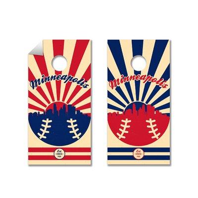 MLB Cornhole Board Decal MLB Team: Minnesota Twins 791512720493