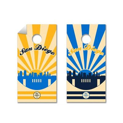NFL Cornhole Board Decal NFL Team: San Diego Chargers 791512721100