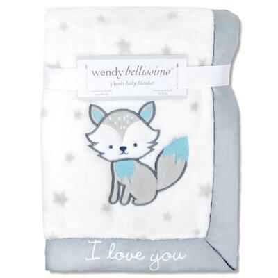 Hudson Plush Fox Throw Blanket
