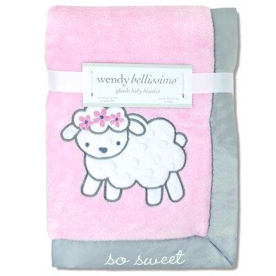Elodie Plush Sheep Throw Blanket
