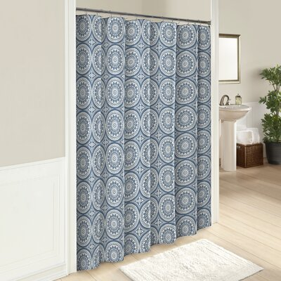 Downen 100% Cotton Shower Curtain Color: Blue
