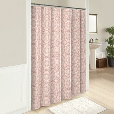 Downen 100% Cotton Shower Curtain Color: Coral