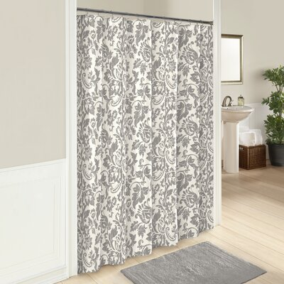 100% Cotton Shower Curtain Color: Gray