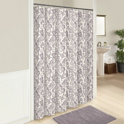 100% Cotton Shower Curtain Color: Purple