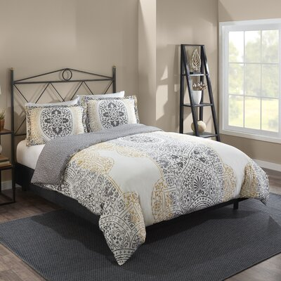 Dowson 100% Cotton 3 Piece Reversible Comforter Set Size: Full/Queen