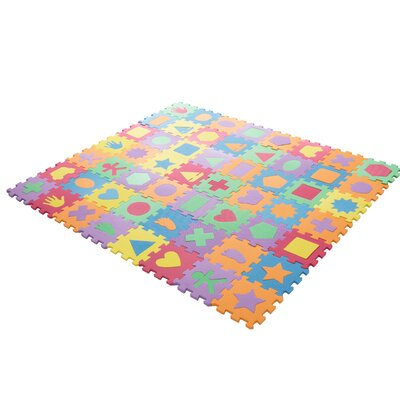 Foam Shapes Puzzle Learning 112 Piece Floor Mat M330009