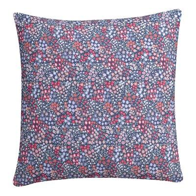 Sketch Floral Cotton Throw Pillow