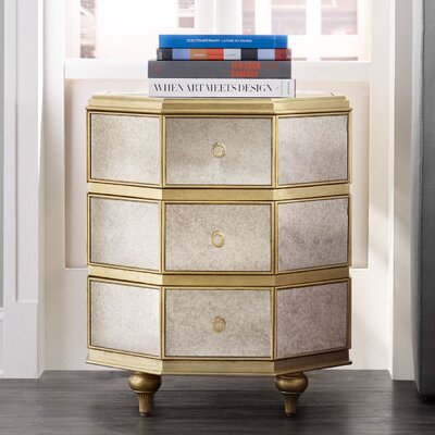 Bewitch 3 Drawer Nightstand