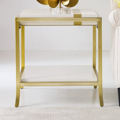 Side Stripe End Table