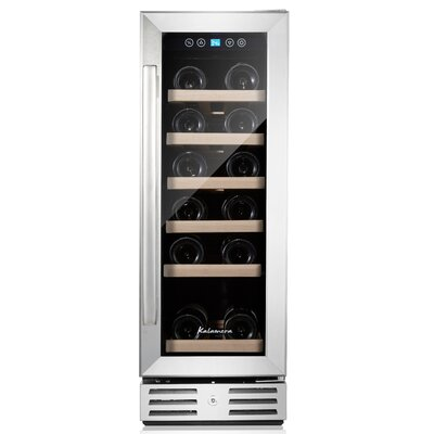 18 Bottle Single Zone Built-In / Freestanding Wine Refrigerator KRC-18SZB