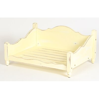 Shabby Elegance Solid Wood Dog Bed Size: Medium (35.75 L x 27.75 W)