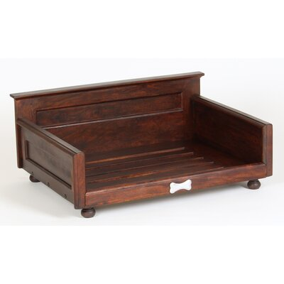 Solid Wood Dog Bed Size: Medium (35.5 L x 26 W)