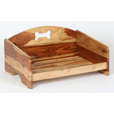 Rustic Solid Wood Dog Bed Size: Small (26 L x 21 W)