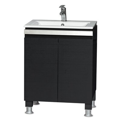 24 Single Smart Vanity Set Base Finish: Black