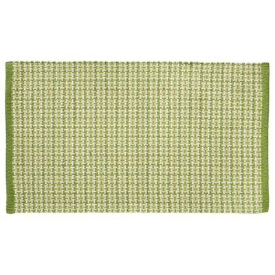 Tattersall Plaid Hand-Woven Green Area Rug