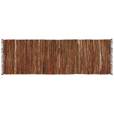 Tucson Hand-Woven Brown Area Rug Rug Size: Runner 26 x 8