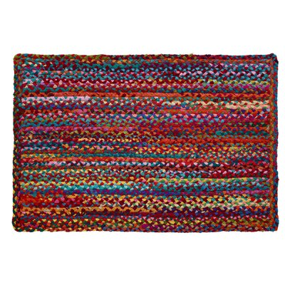 Carnivale Braided Red Area Rug Rug Size: Rectangle 2 x 3