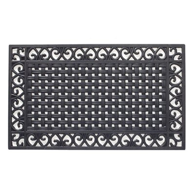 Basketweave Rubber Doormat