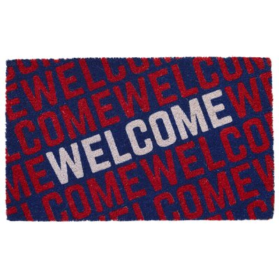 Welcome Collage Coir Doormat