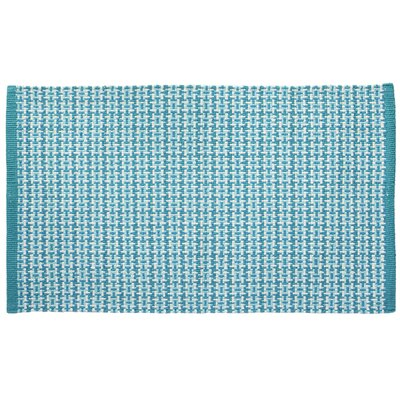 Tattersall Plaid Hand-Woven Teal Area Rug