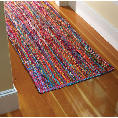 Carnivale Braided Red Area Rug Rug Size: Runner 2'3