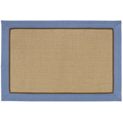 York Machine Woven Slate Blue Area Rug Rug Size: 2 x 3