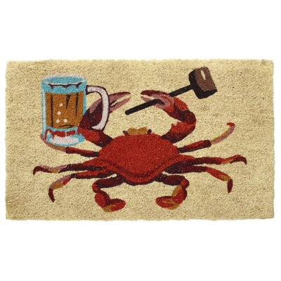 Crab, Beer Stein and Mallet Coir Doormat