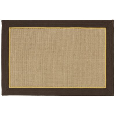 York Machine Woven Coffee Area Rug Rug Size: 2 x 3