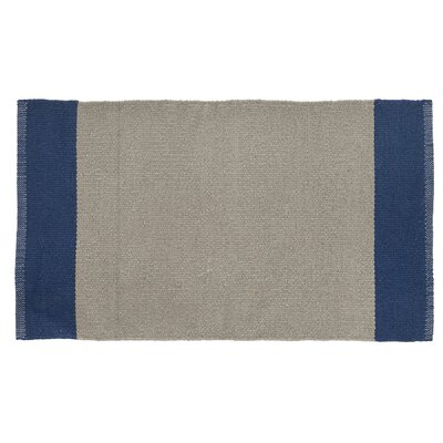 Linden Hand-Woven Khaki/Navy Indoor/Outdoor Area Rug Rug Size: 2 x 34