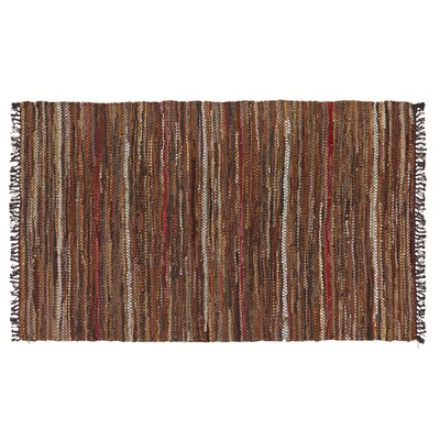 Tucson Hand-Woven Brown Area Rug Rug Size: 38 x 6