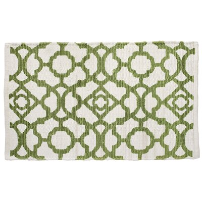 Wrought Iron Aspen Hand-Woven Green Area Rug