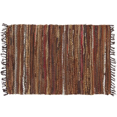 Tucson Hand-Woven Brown Area Rug Rug Size: 2 x 3