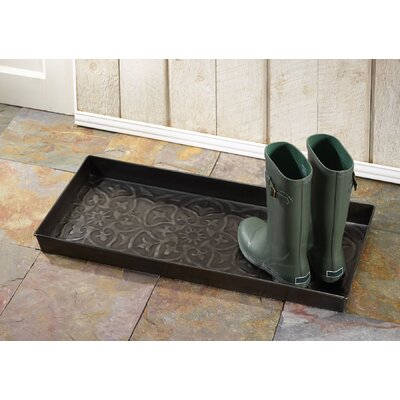 Fleur de lis Scroll Boot Tray