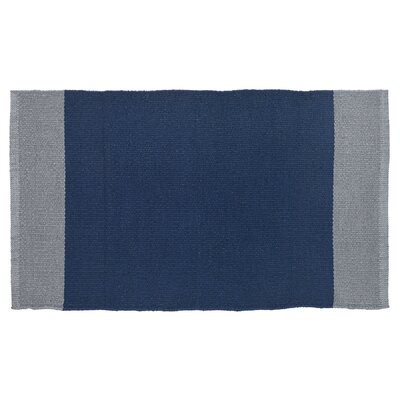 Linden Hand-Woven Navy/Gray Indoor/Outdoor Area Rug Rug Size: 19 x 210