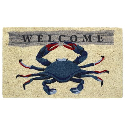 Welcome Crab Coir Doormat